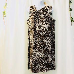 NWT- Chico's Leopard Sleeveless Dress